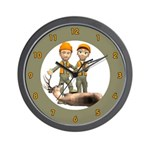Deer Hunting Wall Clock