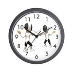 Fencing Wall Clock