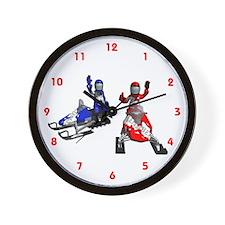 Snowmobiling Wall Clock