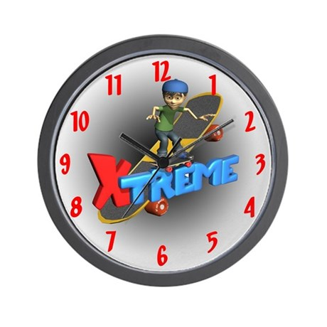 Extreme Skateboarding Wall Clock