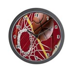 Basketball Hoop Wall Clock