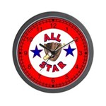 All Star Baseball Wall Clock