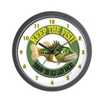 Keep The Fish Wall Clock