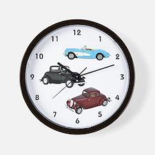 Vintage Cars Wall Clock