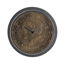 Coin Collectors Wall Clock