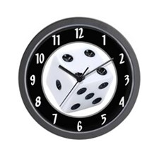 Gamblers Dice Wall Clock