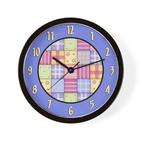 Patchwork Quilt Wall Clock by sagart