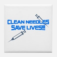 Clean Needles Save Lives Tile Coaster
