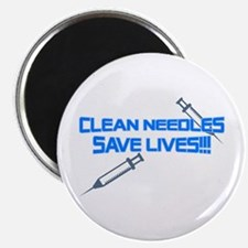 Clean Needles Save Lives Magnet