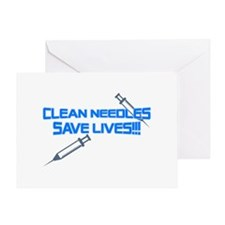 Clean Needles Save Lives Greeting Card