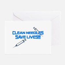 Clean Needles Save Lives Greeting Cards (Pk of 10)