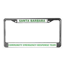 Santa Barbara CERT License Plate Frame