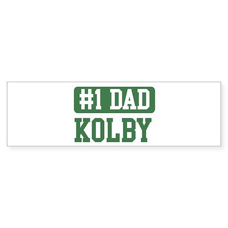 Number 1 Dad - Kolby Bumper Sticker