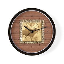 Animal Print T's Wall Clock