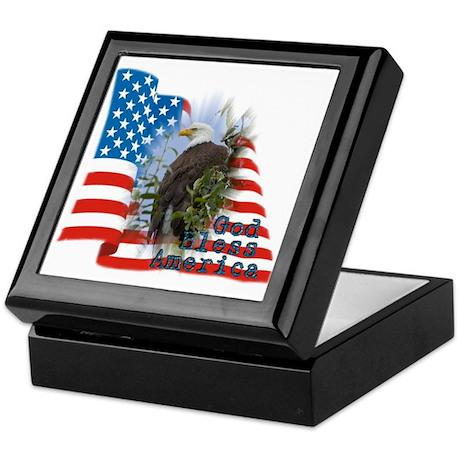 Flag, Eagle - Keepsake Box