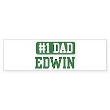 Number 1 Dad - Edwin Bumper Bumper Sticker