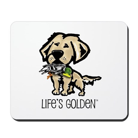 Life's Golden Hunting Dog Mousepad