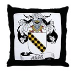Ager Coat of Arms Throw Pillow