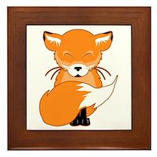 Cuddly Fox Framed Tile