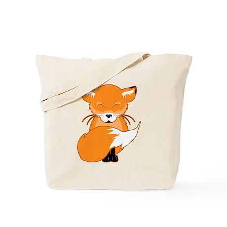 Cuddly Fox Tote Bag