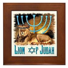 Lion of Judah 3 Framed Tile