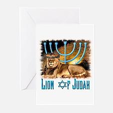 Lion of Judah 3 Greeting Cards (Pk of 10)