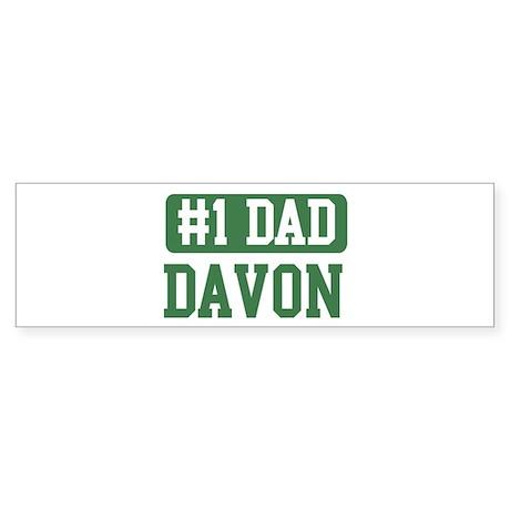 Number 1 Dad - Davon Bumper Sticker