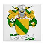 Albornoz Coat of Arms Tile Coaster