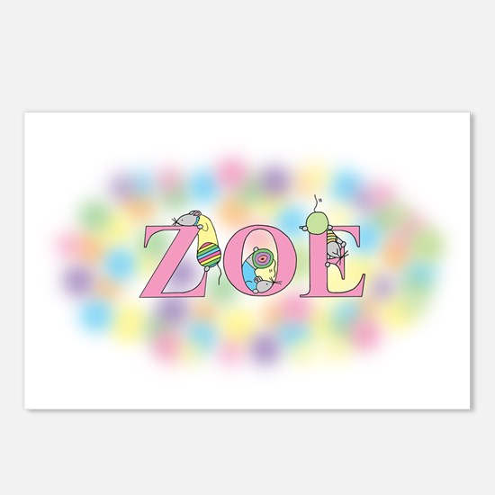 """Zoe"" with Mice Postcards (Package of 8)"