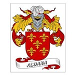 Aldana Coat of Arms Small Poster