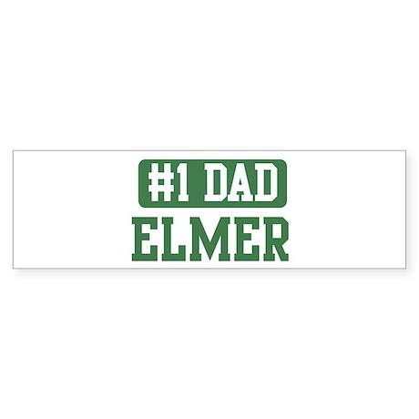 Number 1 Dad - Elmer Bumper Sticker