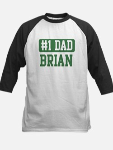 Number 1 Dad - Brian Kids Baseball Jersey