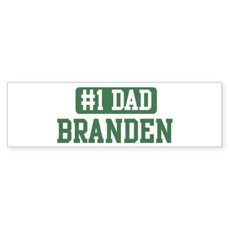 Number 1 Dad - Branden Bumper Sticker