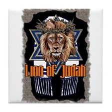 Lion of Judah 2 Tile Coaster