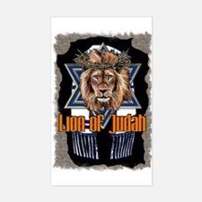Lion of Judah 2 Rectangle Decal