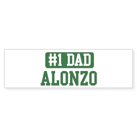 Number 1 Dad - Alonzo Bumper Sticker