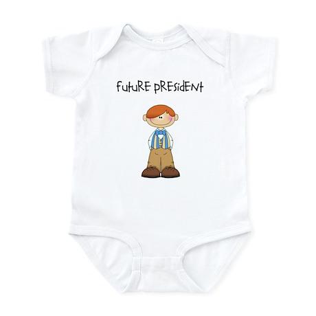 Future President Redhead Boy Infant Bodysuit