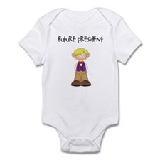 Future President Blonde Boy Infant Bodysuit