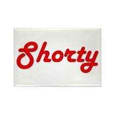 Shorty (Red Lettering) Rectangle Magnet