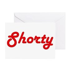Shorty (Red Lettering) Greeting Cards (Package of