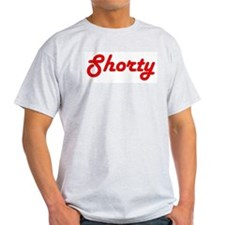 Shorty (Red Lettering) Ash Grey T-Shirt