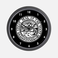 Nevada State Seal Wall Clock