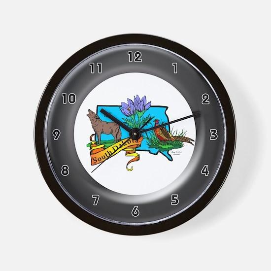 South Dakota Wall Clock