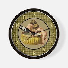 Bathtime Bubbles Wall Clock