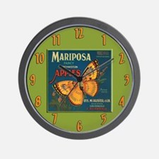 Apple Fruit Label Wall Clock
