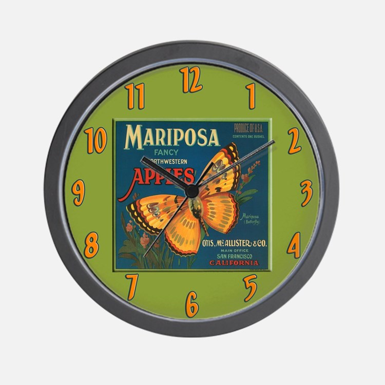 Apple Fruit Label Wall Clock