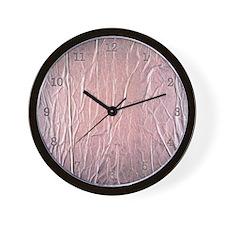 Pink Wrinkles Wall Clock