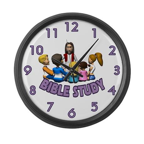 Bible Study Large Wall Clock by sagart