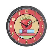 School Teachers Apple Wall Clock