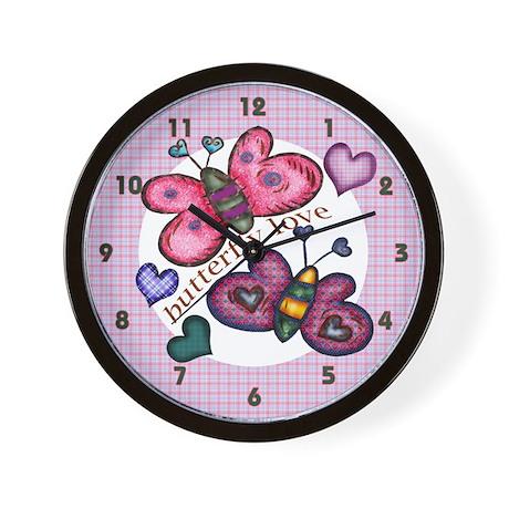 Butterfly Love Wall Clock